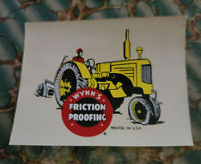 Vintage Original WYNN'S FRICTION PROOFING Water DECAL Farm TRACTOR old oil ford