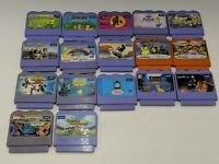 vtech v smile 17 Game Lot Tested! Disney Spiderman Thomas Shrek Pixar Barney