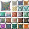 "Boho Geometric 18""Paisley Mandala Throw Pillowcase Cushion Cover Pillow Case"