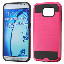 PINK BLACK BRUSHED RUBBERIZED SKIN COVER CASE For SAMSUNG Galaxy S7 Pl