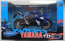 WELLY YAMAHA YZF-R1 1:10 DIE CAST METAL MODEL NEW IN BOX LICENSED MOTORCYCLE