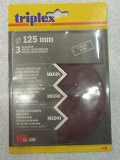 TRIPLEX OUTILLAGE - DISCHI ABRASIVI - DIAM 125mm - GRANA MEDIA - 3 DISCHI