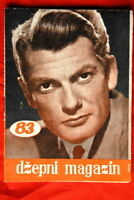 JEAN MARAIS ON COVER 1958 VERY RARE EXYU MAGAZINE