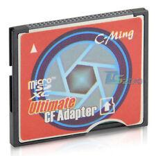 WiFi MicroSDXC MicroSD to Type I Ultimate Compact Flash Card CF Adapter Class 10