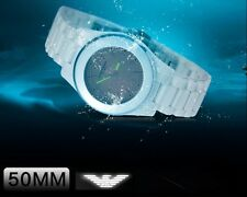 EMPORIO ARMANI LADIE'S CERAMIC MOTHER OF PEARL WHITE WATCH AR1439