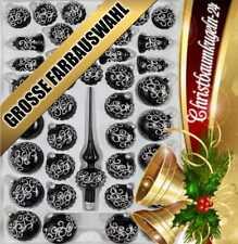 """39 tlg Glas-Weihnachtskugeln Christbaumkugeln Set in """"Hochglanz Pink/"""""""
