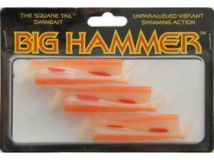 "Big Hammer The Square Tail Swimbait Fishing Lures 3"" CITY SHRIMP #88 HPS30088"