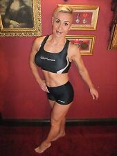 Bnwt Donna Orca triathlon SWIM Bici Rampa Crop Top, Reggiseno sportivo, Lycra ~ UK 14