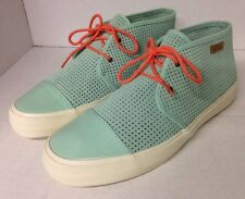 VANS RHEA SF Shoes Square Perf Gossamer Mint Green Boot Women's Size 9.5 EX+
