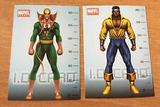 Luke Cage & Iron Fist 2 Autocollants Adhésives Marvel Heroes Avengers Preziosi