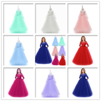 Flower Girl Dress Lace Formal kids bridesmaid princess wedding party Tulle Gowns