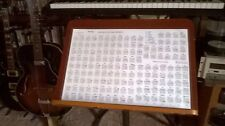Guitar Chord Poster  11 x 17 Laminated, 149 most useful chords, handmade, $8.95