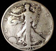 1936-P 50C Walking Liberty Half Dollar cwc 90% Silver 50 cents shipping