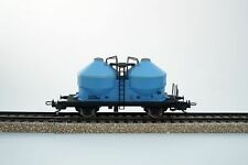 Vagones de mercancías de escala H0 analógicos color principal azul para modelismo ferroviario