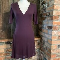 Urban Outfitters Silence + Noise Purple V Neck Dress Size Med NWT