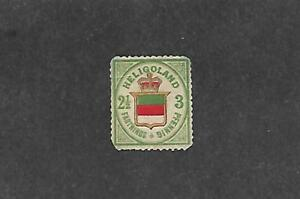 HELIGOLAND STAMP #20 (NO GUM) FROM 1876-88