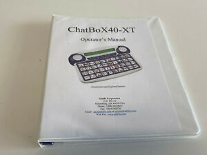 Genuine Saltillo Chatbox 40-XT Opertator's Manual