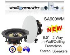 """STUDIO ACOUSTICS SA600WM 6.5"""" 80W IN-WALL/CEILING FRAMELESS SPEAKER"""