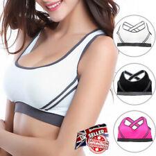 Women Yoga Sports Running Bra Lady Workout Vest Crop Tops Gym Swim Shapewear TIK