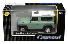LAND ROVER DEFENDER LIGHT GREEN 1/43 DIECAST MODEL CAR BY CARARAMA 4-55240