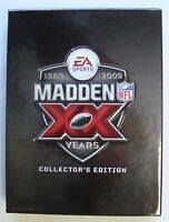 PS3 MADDEN NFL 09 XX 20 YEARS COLLECTOR'S EDITION COMPLETE SONY PLAYSTATION