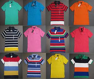 Ralph Lauren Polo Kids Youth Size S M L XL Pony Polo Shirts Age 8-14 Genuine NWT