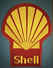 Rare 1980's Shell Oil F-1 Racing Sponsor Large Jacket Racing Gear Patch Crest B