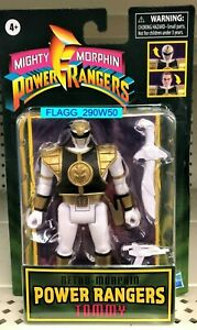 TOMMY Retro Mighty Morphin POWER RANGERS Action Figure WHITE Ranger READ!!
