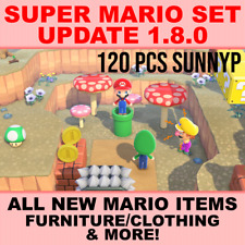 Super Mario Update -  120pcs Items Animal Crossing:New Horizons 1.8.0 *BONUSES