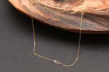 Edle 333/- Goldkette 45cm Gelbgold Ankerkette Gold Collier Halskette