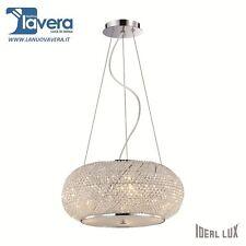 """Lampadario Ideal Lux """"pasha' Sp6"""" cromo - codice 082158"""
