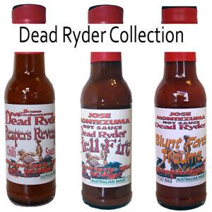 Gourmet Dead Ryder Series  Chilli Hot Sauces  -  3x150ml Carolina Reaper & Ghost