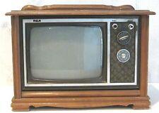 "vintage TV Mini 9"" Screen Salesman Sample Television Console Wood Cabinet"