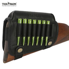 Leather Shooting Cheek Rest Comb Riser Rifle Ammo Holder Buttstock Cover-TOURBON