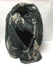 Starfish Large Print Lady/Girls Fashion Scarf/shawls/wrap/stole/Dark Grey