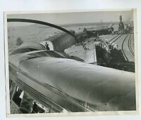 1944 ORIGINAL WILLIAMS ARIZONA TRAIN WRECK PHOTO KILLS 4 SANTA FE CHIEF VINTAGE