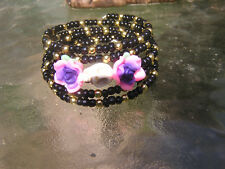 Day of the Dead Bracelet Wrap around Sugar Skull Frida inspired gothic goth NEW!