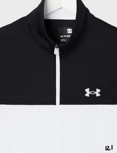 Under Armour Men's Sportstyle Pique Jacket , Black (006)/White , X-Large
