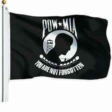 G128 POW MIA You are Not Forgotten Prisoner of War 3ftx5ft Flag - Black