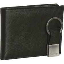 Calvin Klein Ck Men's Leather Bifold Id Wallet Key Chain Set Black 79080