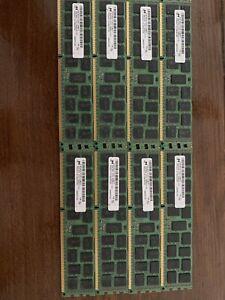 Micron 64GB 8x8GB 2Rx4 PC3L-12800R 240Pin 1.35v ECC REG Registered Server Memory