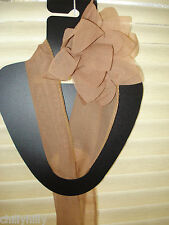 Chiffon Narrow Scarf & Flower Clip Hair Accessory Taupe Stocking Filler NEW