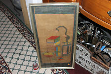 Antique Korean Woodblock Painting Scroll-Pottery & Furniture-Joseon Dynasty-#8