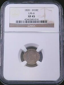 1831 LM-6 Capped Bust Silver Half Dime NGC XF45  #GE298