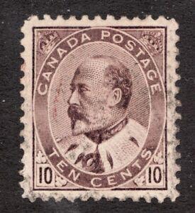 Sc #93 - Canada - 10c - 1903 - KEVI - Used VF -  superfleas - cv$20