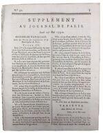 Municipalité de Paris 1790 Landerneau Pleumeur Docteur Foulloy Meude Monpas