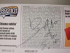 biglietto u2 autografato da bono originale
