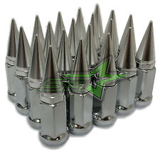 20 CHROME SPIKED EXTENDED LUG NUTS 12x1.5 OFFROAD SPIKE LUG NUTS