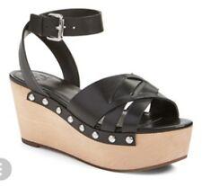 Marc Fisher Camilla Women US 9 Black Wedge Heel 1378
