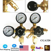 CO2 Regulator Beer Brewing Kegerator Dual Gauge Valve Joint CGA320 High Quality